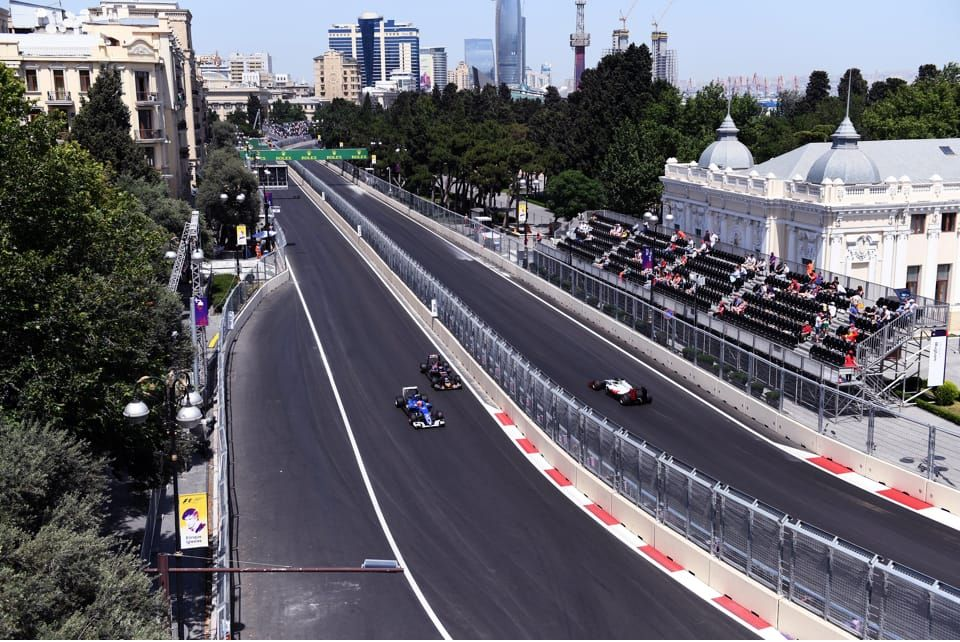 This is one of the most unique vantage points in all of Formula 1 - witness racing in all directions!