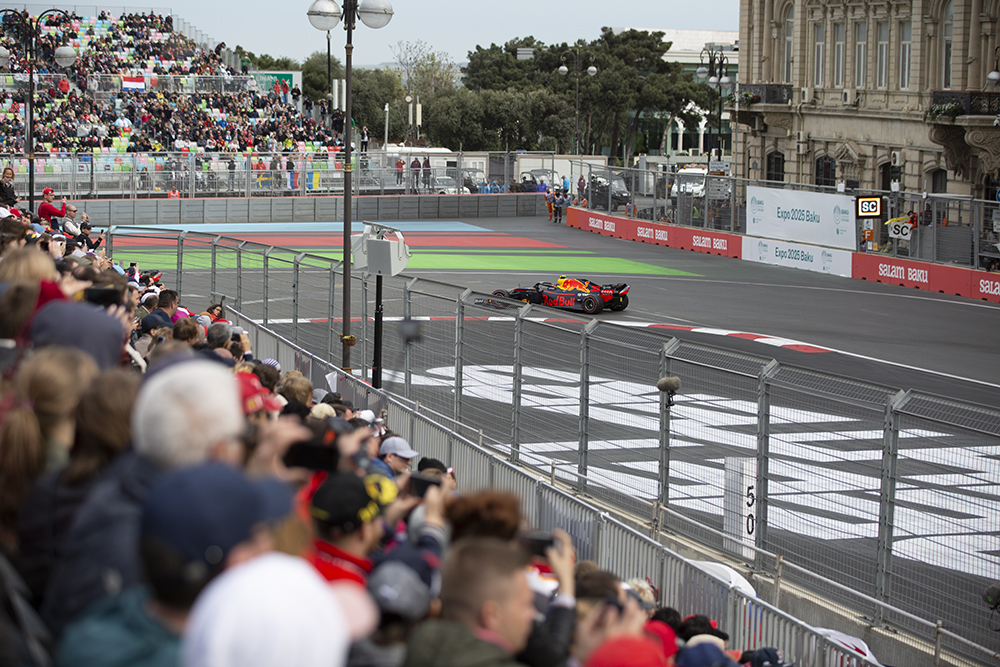 Fans will have the perfect vantagepoint to observe the circuit's heavy braking section that leads into Turn 16.