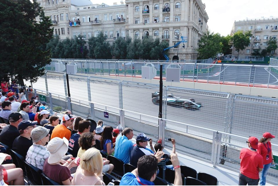 Situated at Turn 20 on the Boulevard side of the track, Sahil Grandstand ticketholders can view two different sections of the track at the same time.