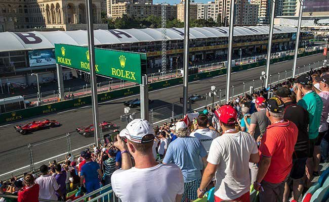 Located right opposite the team garages, the perfect view for any F1 fan.