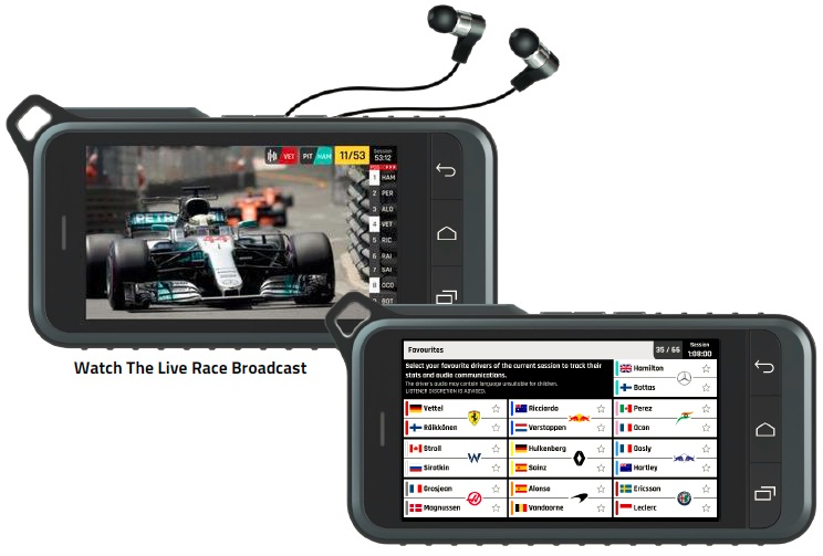 Watch the live race broadcast, select your favorite driver